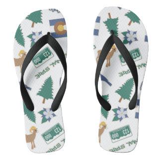 Colorado Fun Pattern Flip Flops