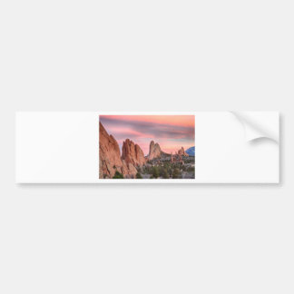 Colorado Garden of the Gods Sunset View Bumper Sticker