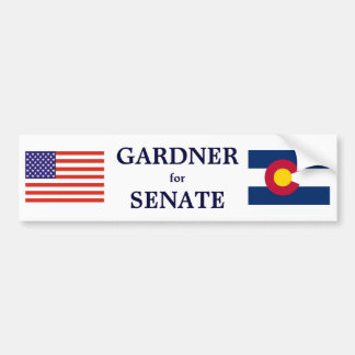 Colorado Gardner para la pegatina para el parachoq Etiqueta De Parachoque