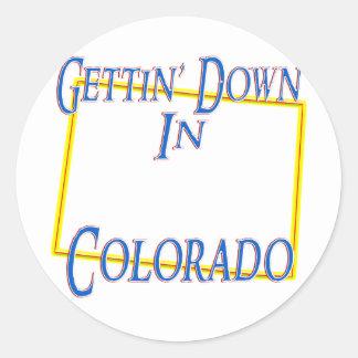Colorado - Getting abajo Etiquetas Redondas