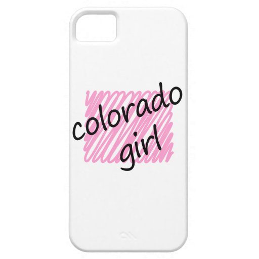 Colorado Girl with Scribbled Colorado Map iPhone 5 Cover