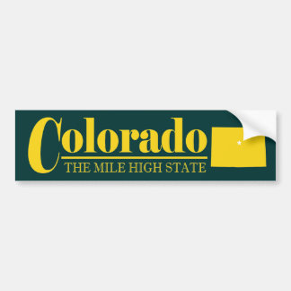 Colorado Gold Bumper Sticker