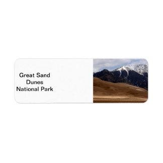 Colorado Great Sand Dunes National Park Souvenir Label