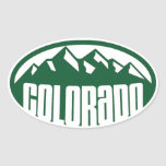 Colorado Green Oval Oval Stickers