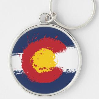 Colorado Grunge Flag Keychain