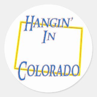 Colorado - Hangin' Classic Round Sticker