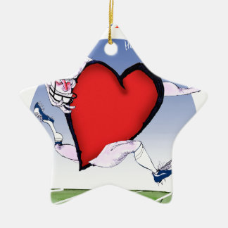colorado head heart, tony fernandes ceramic ornament