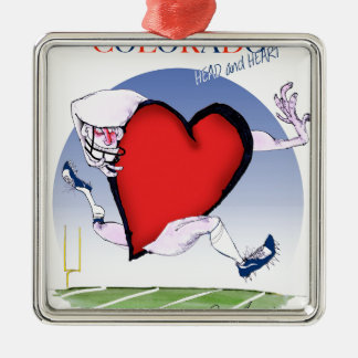 colorado head heart, tony fernandes metal ornament