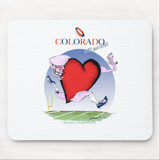 colorado head heart, tony fernandes mouse pad