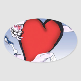 colorado head heart, tony fernandes oval sticker