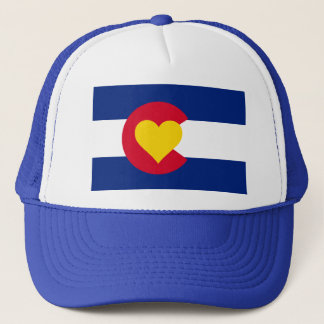 Colorado Heart Flag Trucker Hat