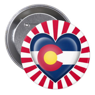 Colorado Heart Flag with Star Burst Pin