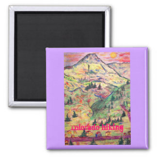 colorado hiking 2 inch square magnet
