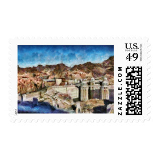 Colorado - Hoover Dam Postage Stamps