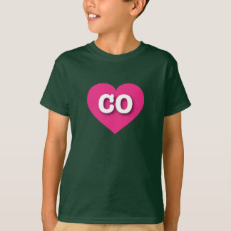 Colorado hot pink heart - Big Love T-Shirt