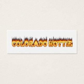 Colorado Hottie Fire And falesm Mini Business Card