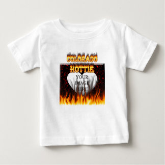 Colorado Hottie Fire and flames Baby T-Shirt