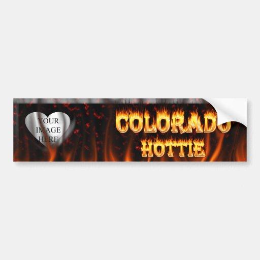 Colorado Hottie Fire and flames Bumper Sticker