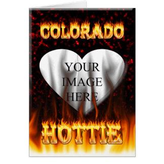 Colorado Hottie Fire and flames Card