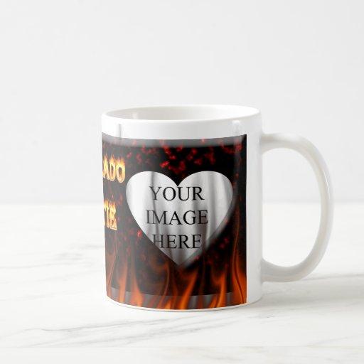 Colorado hottie fire and flames design. mugs