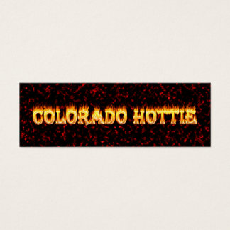 Colorado Hottie Fire and Flames Mini Business Card