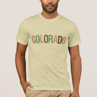 Colorado in faded retro color lettering T-Shirt