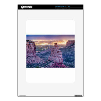 Colorado Independence Monument and City Lights Of Decal For iPad