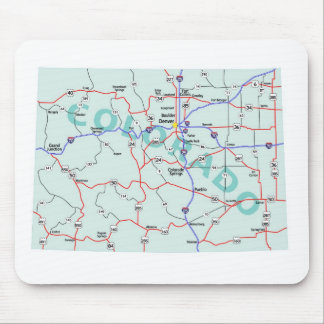 Colorado Interstate Map Mousepad