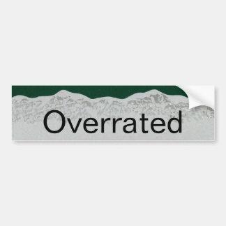 Colorado is Overrated Car Bumper Sticker