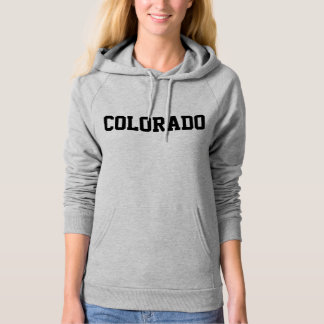 Colorado Jersey Font Black.png Hooded Sweatshirt