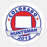 Colorado Jon Huntsman Round Sticker