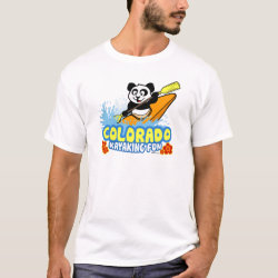 Men's Basic T-Shirt with Colorado Kayaking Fun design