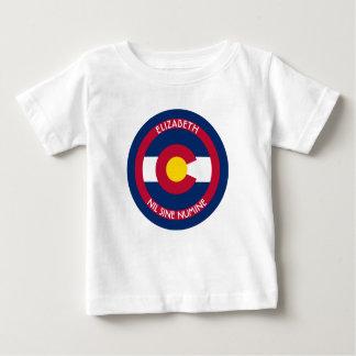 Colorado la bandera personalizada estado playera de bebé