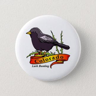 Colorado Lark Bunting Button