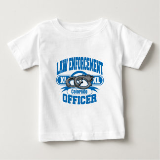 Colorado Law Enforcement Officer Handcuffs Baby T-Shirt