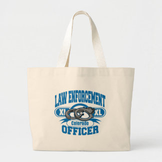 Colorado Law Enforcement Officer Handcuffs Jumbo Tote Bag