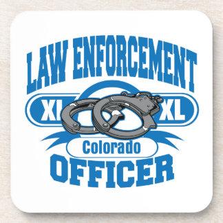 Colorado Law Enforcement Officer Handcuffs Coaster