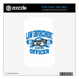 Colorado Law Enforcement Officer Handcuffs Decal For iPod Touch 4G