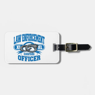 Colorado Law Enforcement Officer Handcuffs Luggage Tag