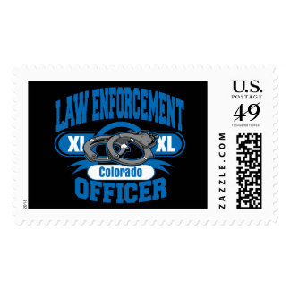 Colorado Law Enforcement Officer Handcuffs Stamps