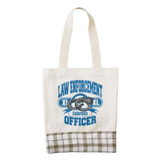 Colorado Law Enforcement Officer Handcuffs Zazzle HEART Tote Bag