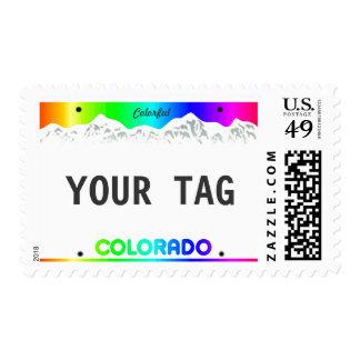 Colorado License Plate - Colorful Edition Postage