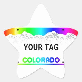 Colorado License Plate - Colorful Edition Star Sticker