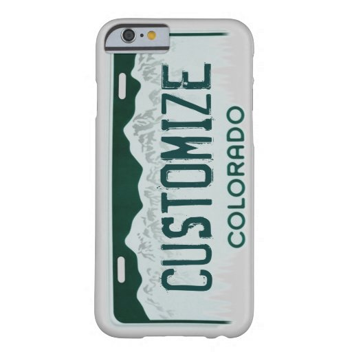 Colorado license plate customizable iPhone 6 case