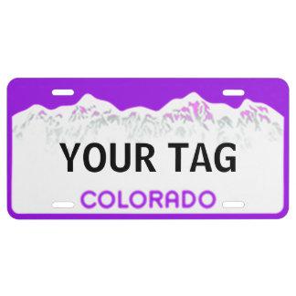 Colorado License Plate - Purple Edition