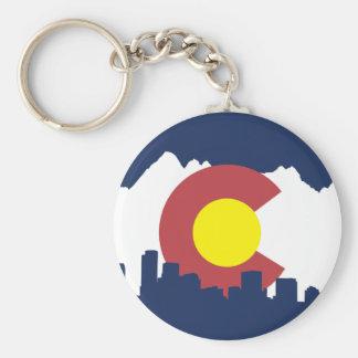Colorado Llavero Redondo Tipo Pin