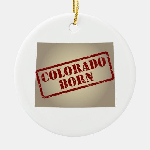 Colorado llevado - sello en mapa adorno para reyes