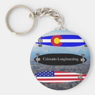 Colorado Longboarding Basic Round Button Keychain