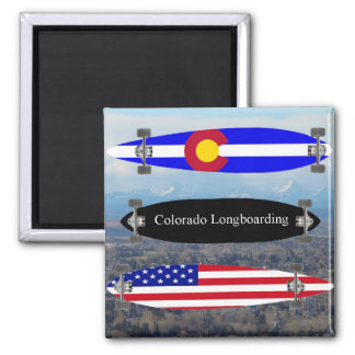Colorado Longboarding Imán Cuadrado