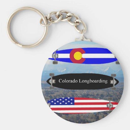 Colorado Longboarding Llavero Redondo Tipo Pin